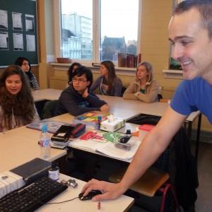 De heer Frédéric Van Vosselen, onze leerkracht Latijn
