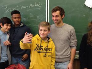 Florent Van Aubel kwam getuigen over de Olympische Spelen
